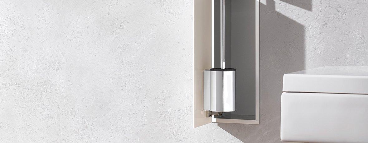 A smart flush-mounted toilet module