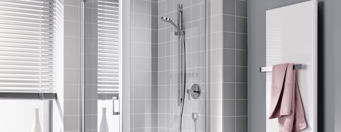Hochwertige Duschkabine Kermi Kada XS quadratisch 90 x 90 cm mit elegantem Linienabfluss